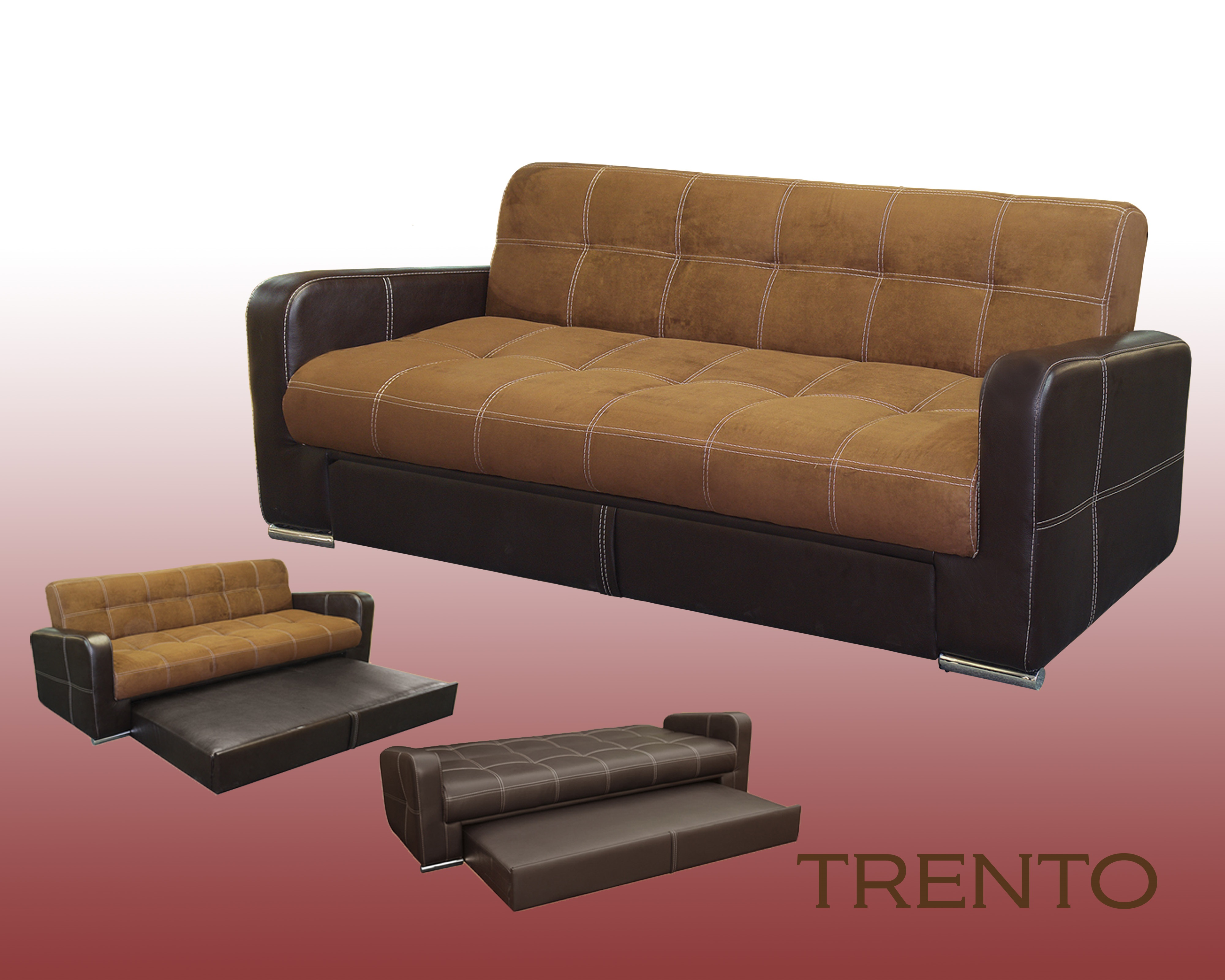 mexico futon sofa bed with mattress chocolate wooden table legs 3 position trundle trenton mr
