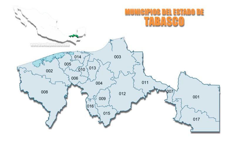 Municipios del Estado de Tabasco