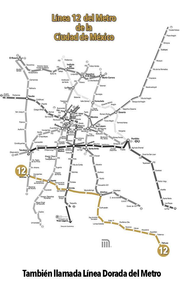 Línea 12 o Dorada del Metro de la CDMX