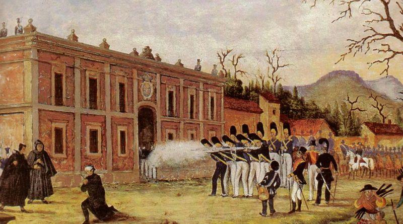 Anónimo: Fusilamiento y Muerte de Morelos. Ayuntamiento de la Ciudad de Morelia