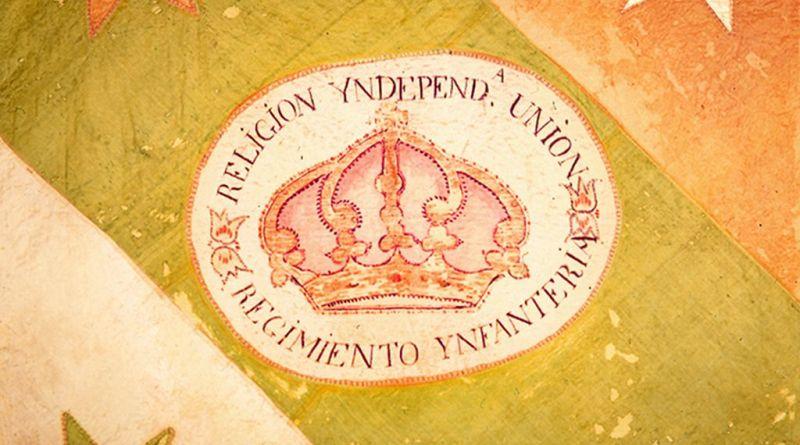 Plan de Iguala. Bandera de las Tres Garantías. Museo Nacional de Historia.