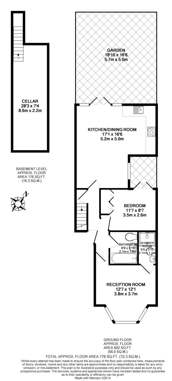 2 bedroom property to rent in Saltoun Road, London, SW2