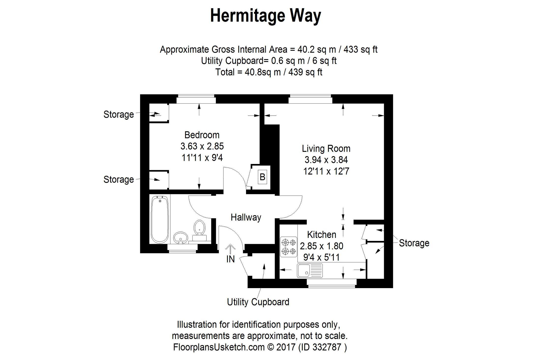 1 bedroom flat for sale in Hermitage Road, Upper Norwood