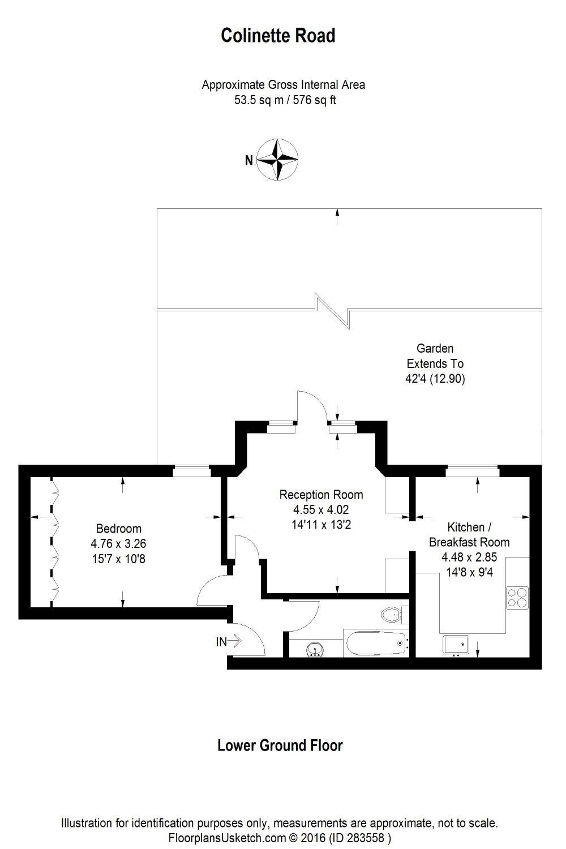1 bedroom property to rent in Colinette Road, Putney, SW15
