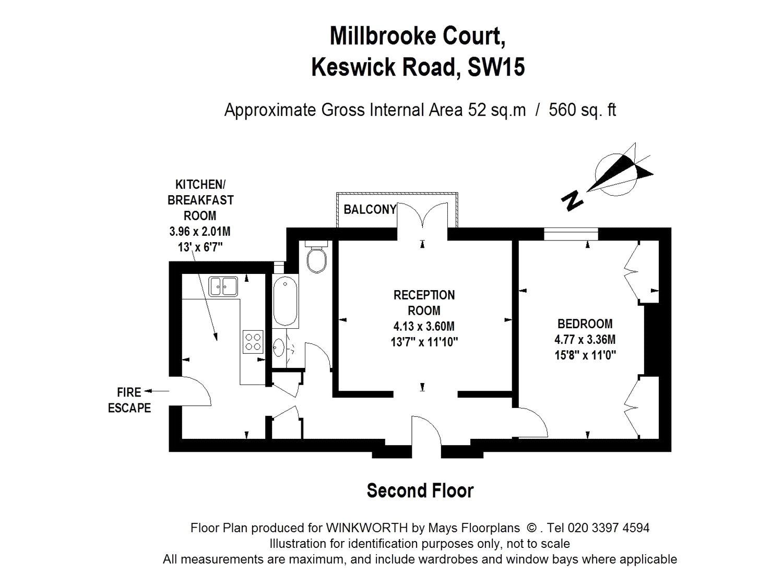 1 bedroom property to rent in Millbrooke Court, Keswick