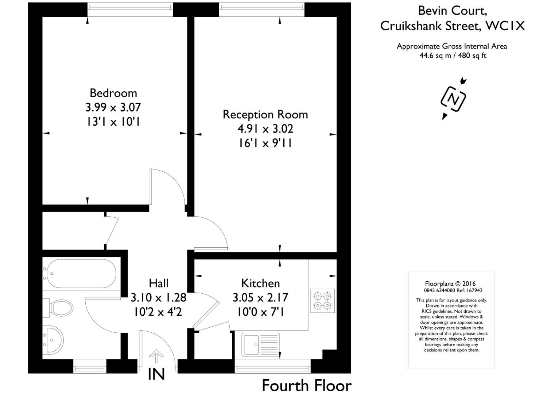 1 bedroom property for sale in Bevin Court, Cruikshank