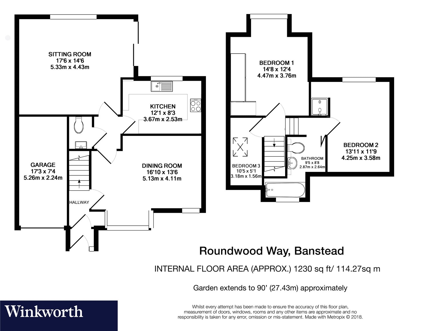 3 bedroom property for sale in Roundwood Way, Banstead