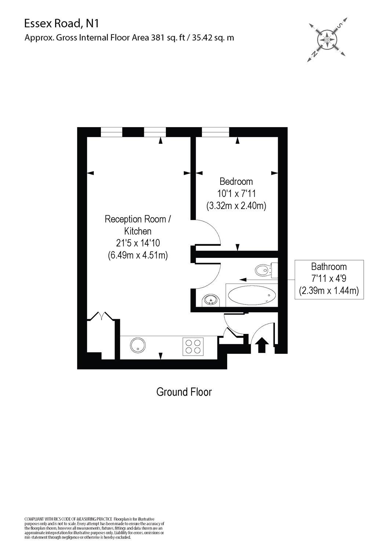 1 bedroom property to rent in Essex Road, Islington, N1