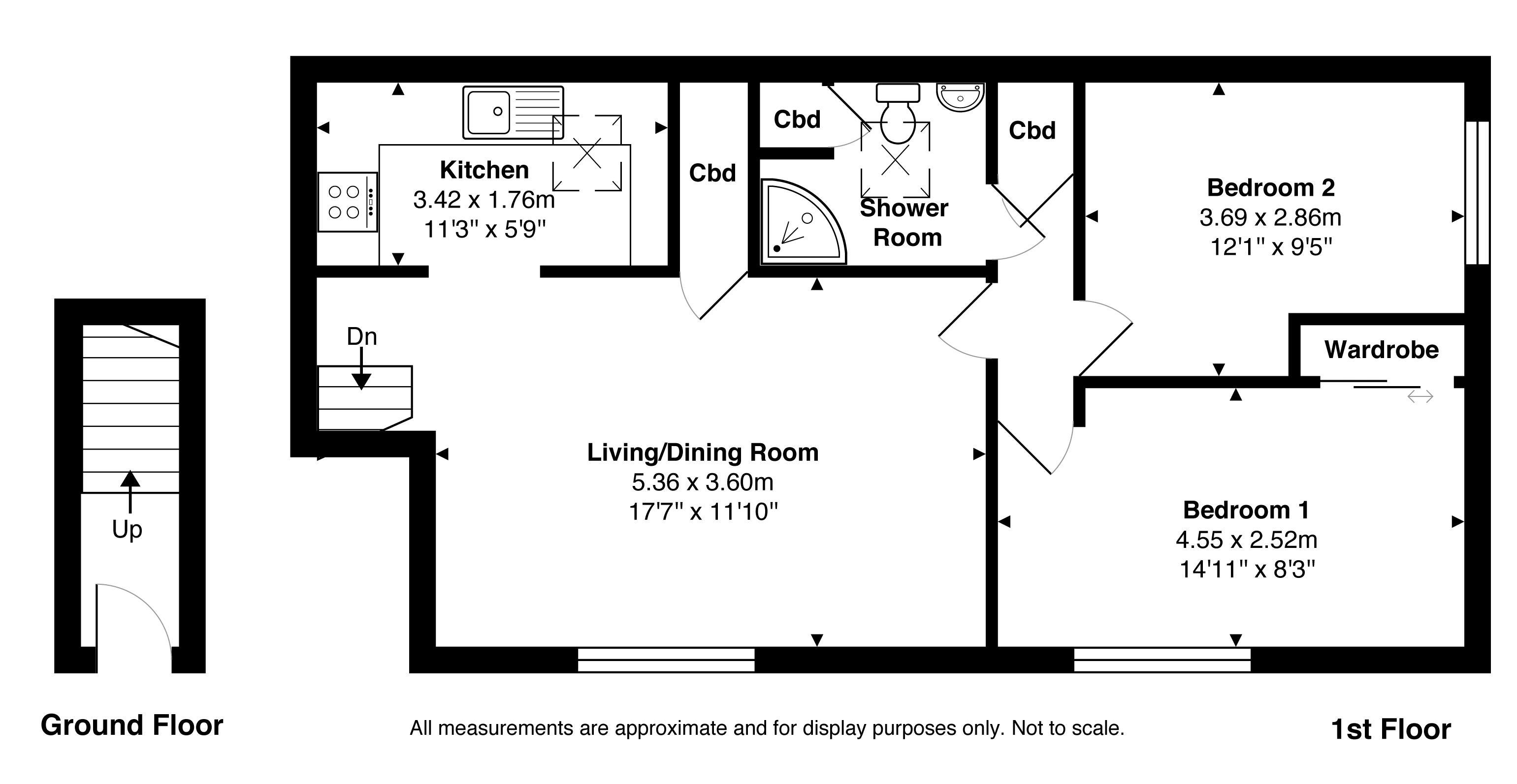 2 bedroom property for sale in School Meadow, Guildford