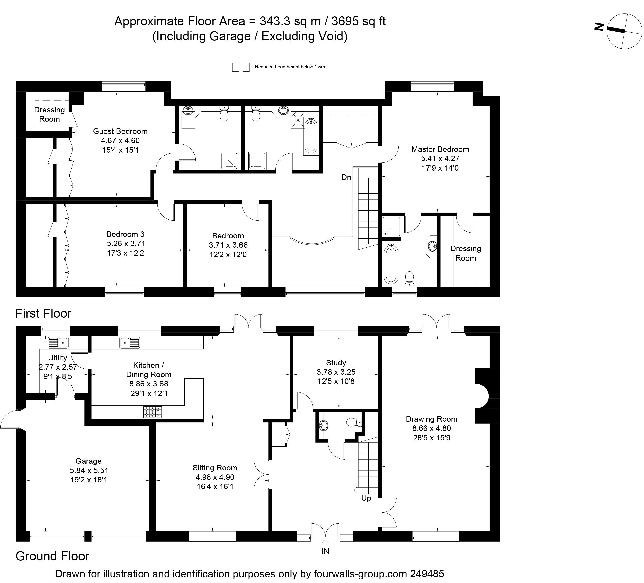 4 bedroom property for sale in Bull Bushes Farm, Oakley