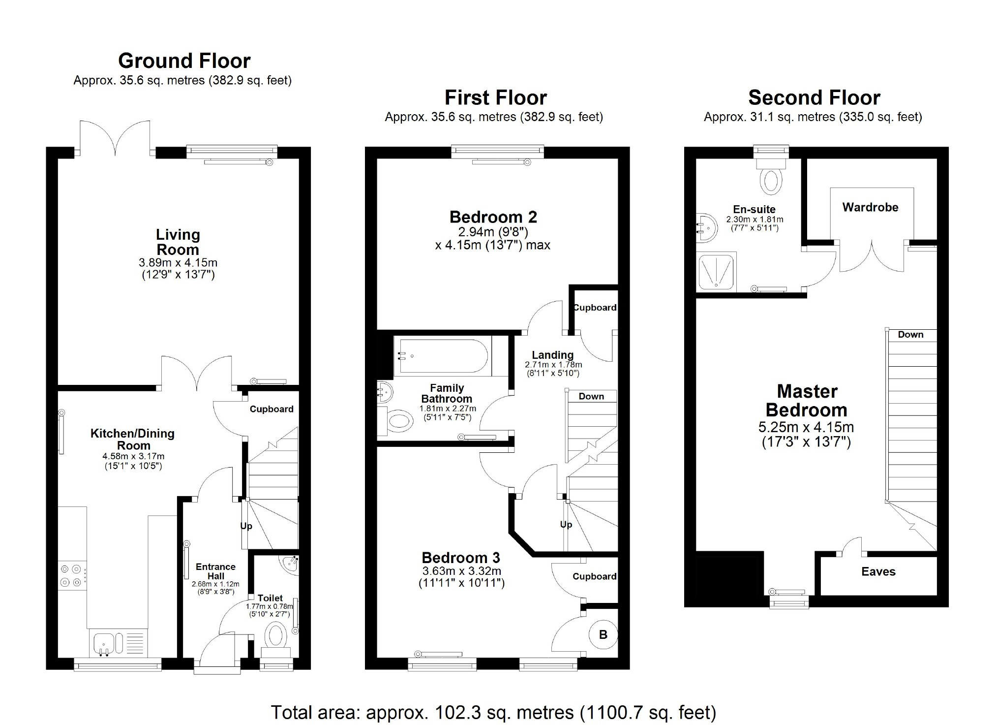 3 bedroom property for sale in Gibbs Court, Corsham