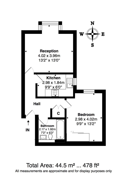 1 bedroom property to rent in Hadleigh Court, Willesden