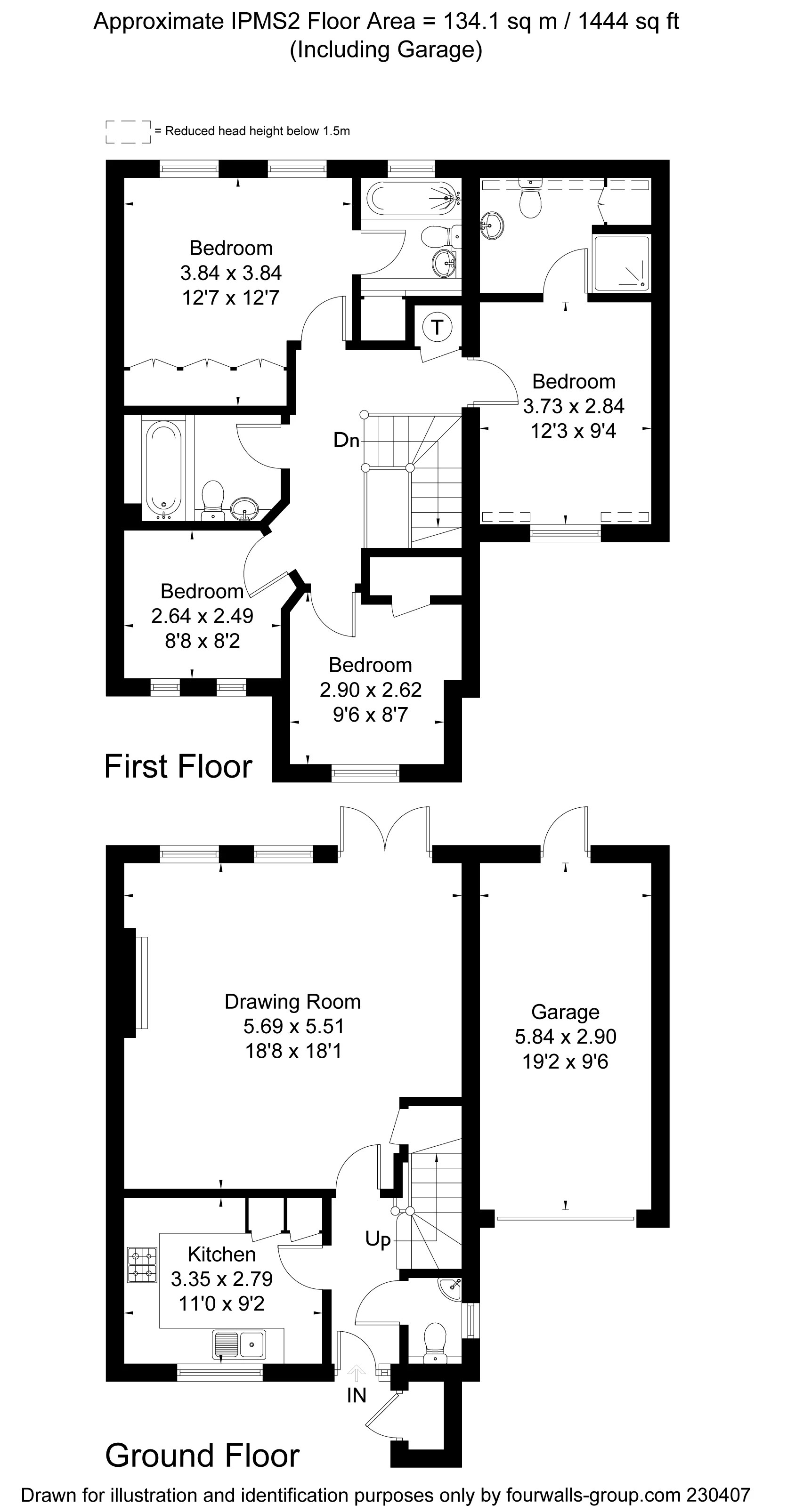 4 bedroom property for sale in Ashley Mews, The Fairfield