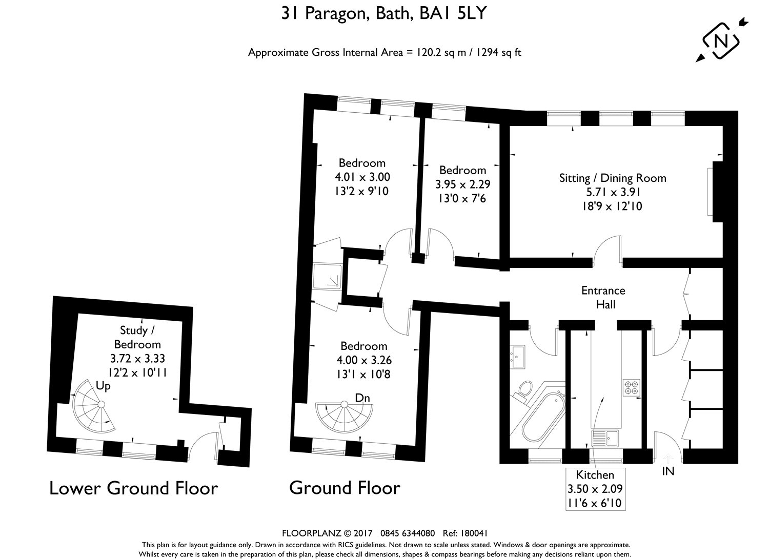 3 bedroom property for sale in Paragon, Bath, Somerset