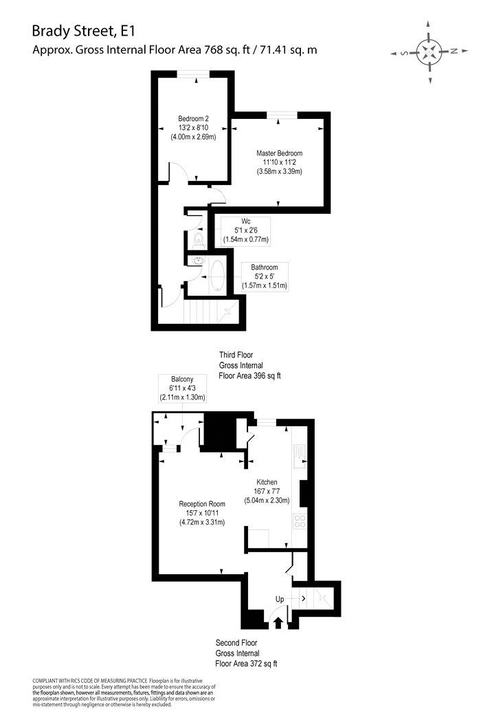 2 bedroom property to rent in Heathpool Court, Brady