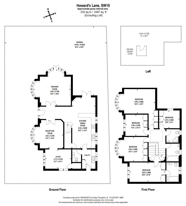 5 bedroom property to rent in Howards Lane, Putney, London