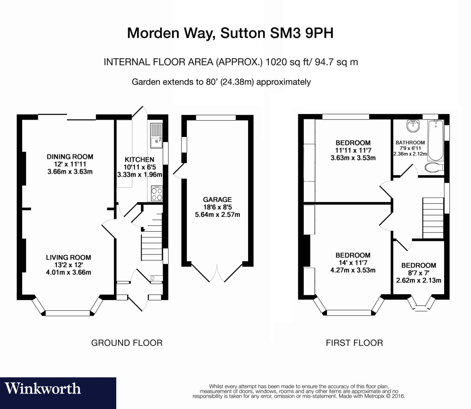3 bedroom property for sale in Morden Way, Sutton, Surrey