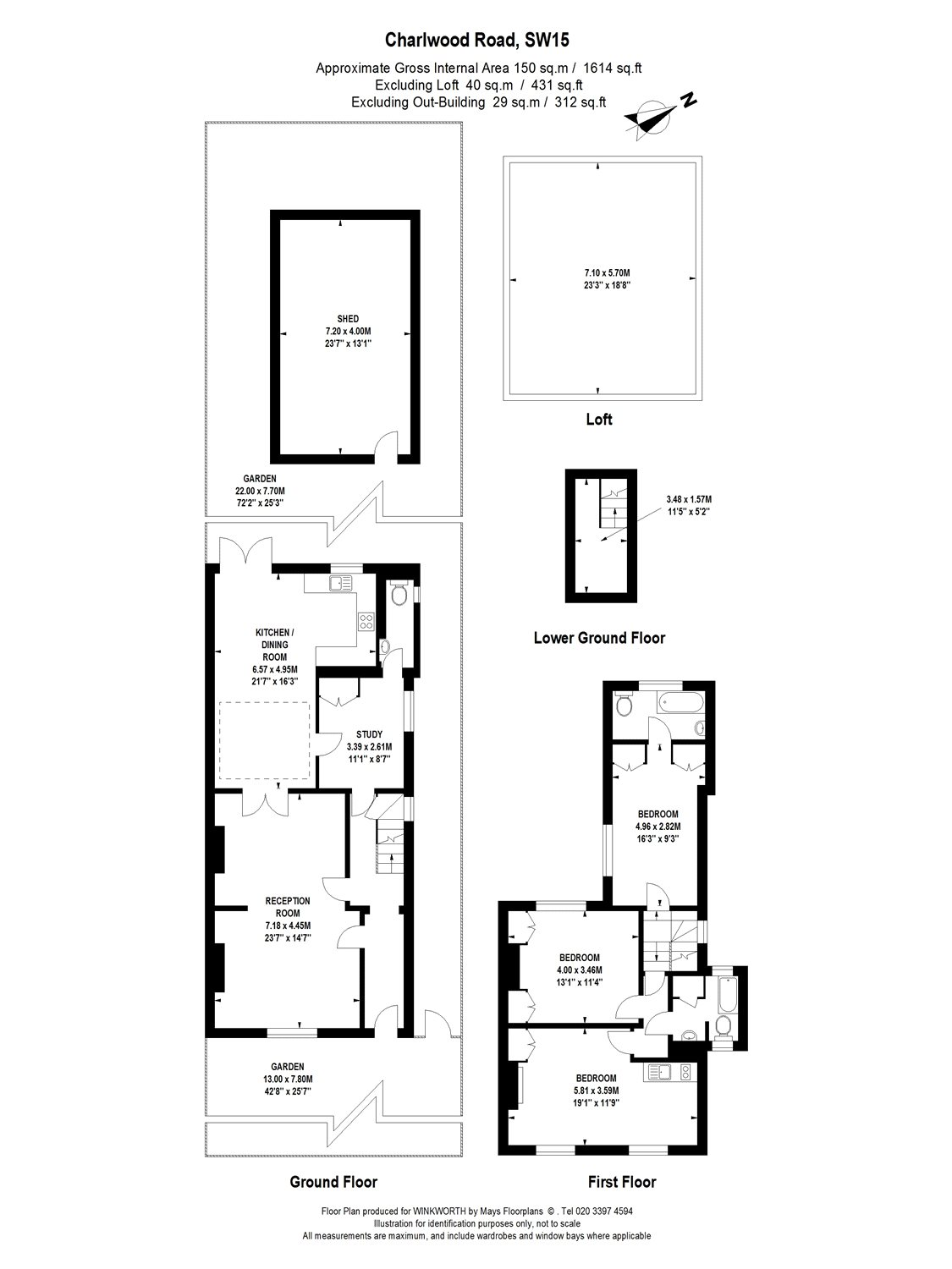 4 bedroom property for sale in Charlwood Road, London