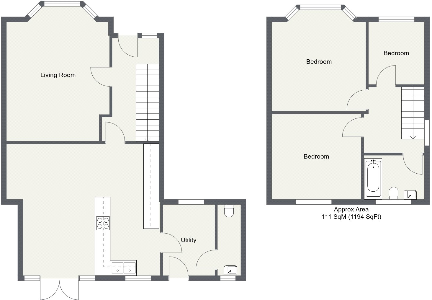 3 bedroom property for sale in Main Road, Broomfield