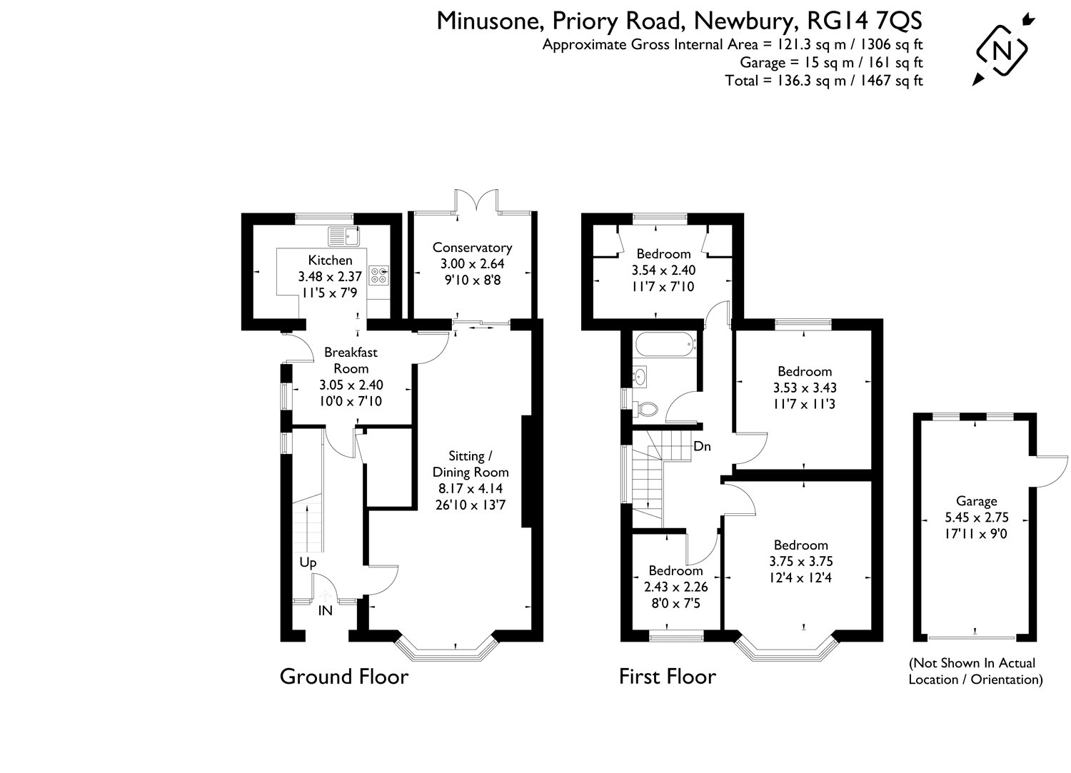 4 bedroom property for sale in Priory Road, Newbury