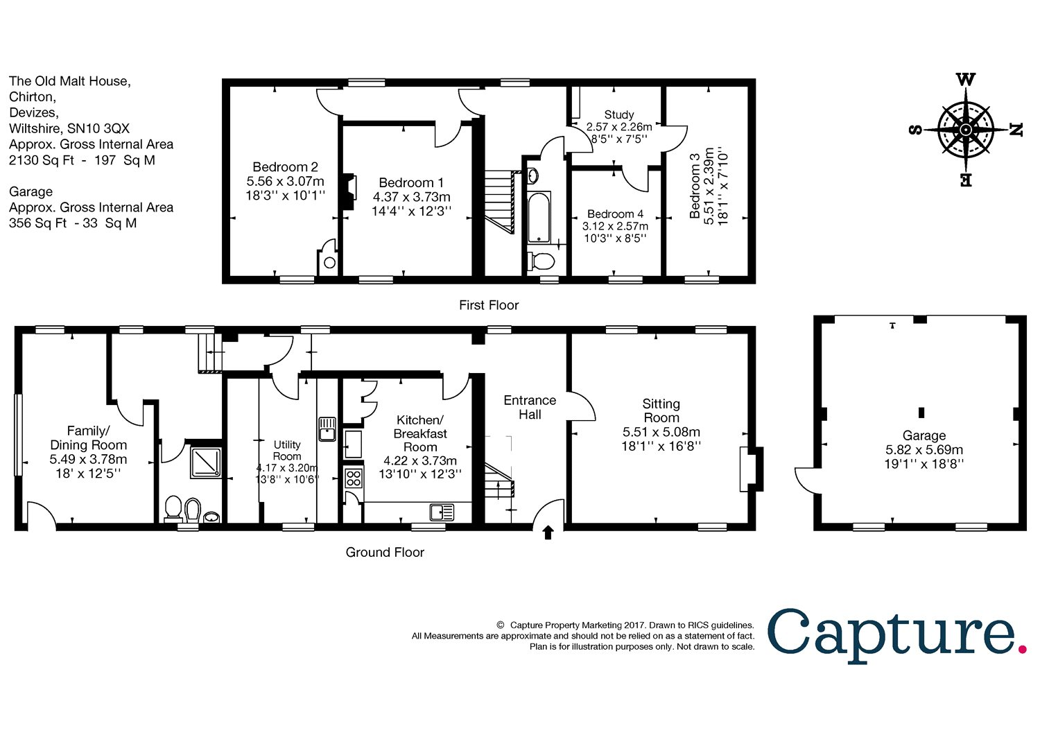 4 bedroom property for sale in Chirton, Wiltshire, SN10