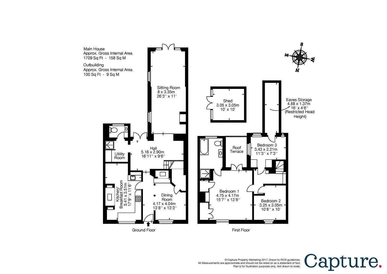 3 bedroom property for sale in High Street, Ramsbury