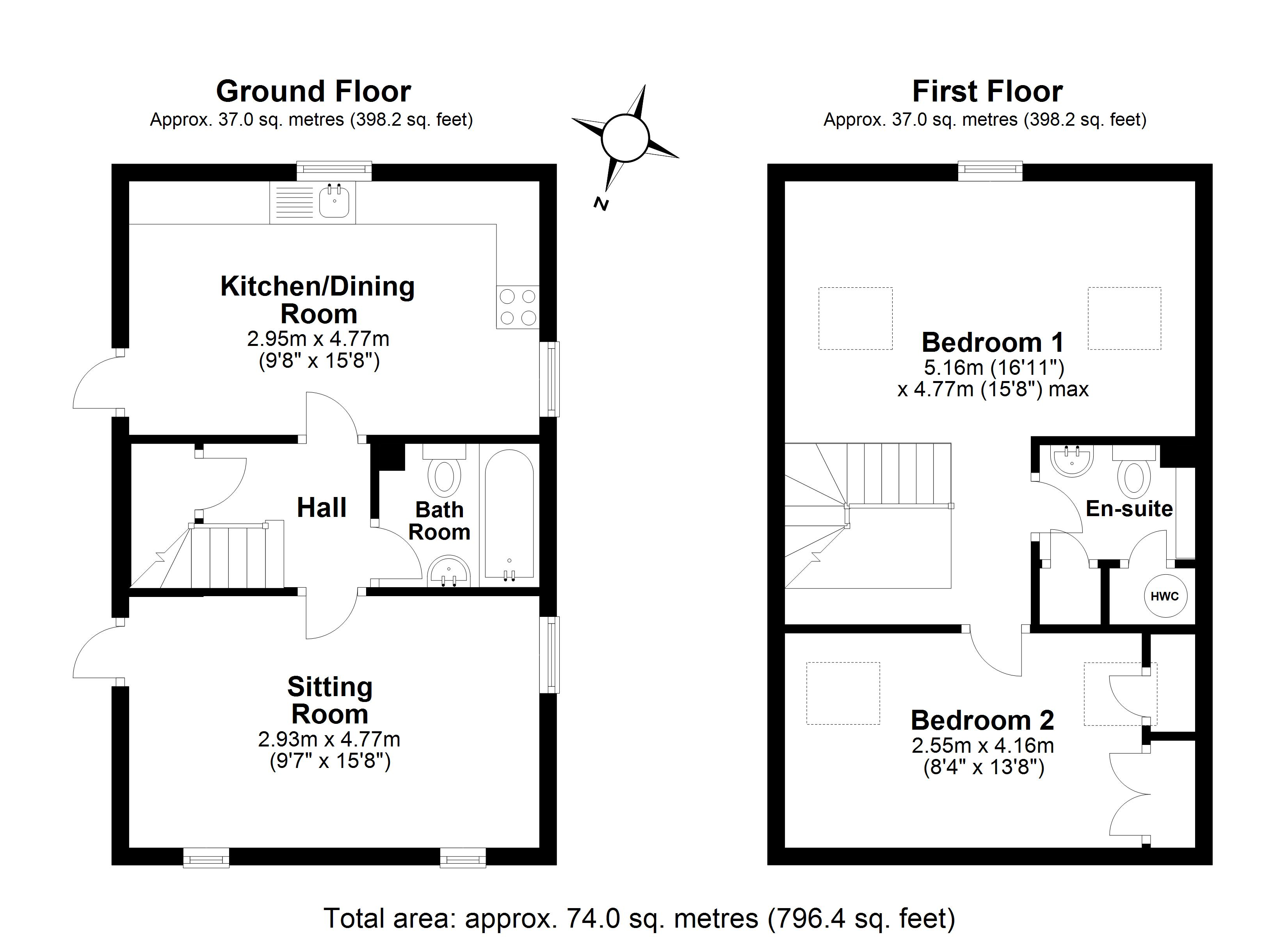 2 bedroom property for sale in Clench Common , Marlborough