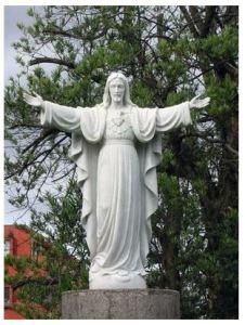 司教館前庭のイエス像