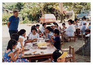 教会学校のキャンプ