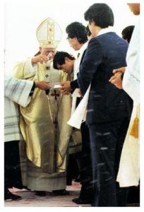 教皇による洗礼式