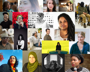 Collaged image of headshots of Next Step Fund awardees