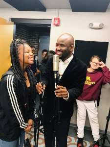 Instructor Chadwick Philips Engages a female student