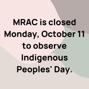 MRAC Closed Monday