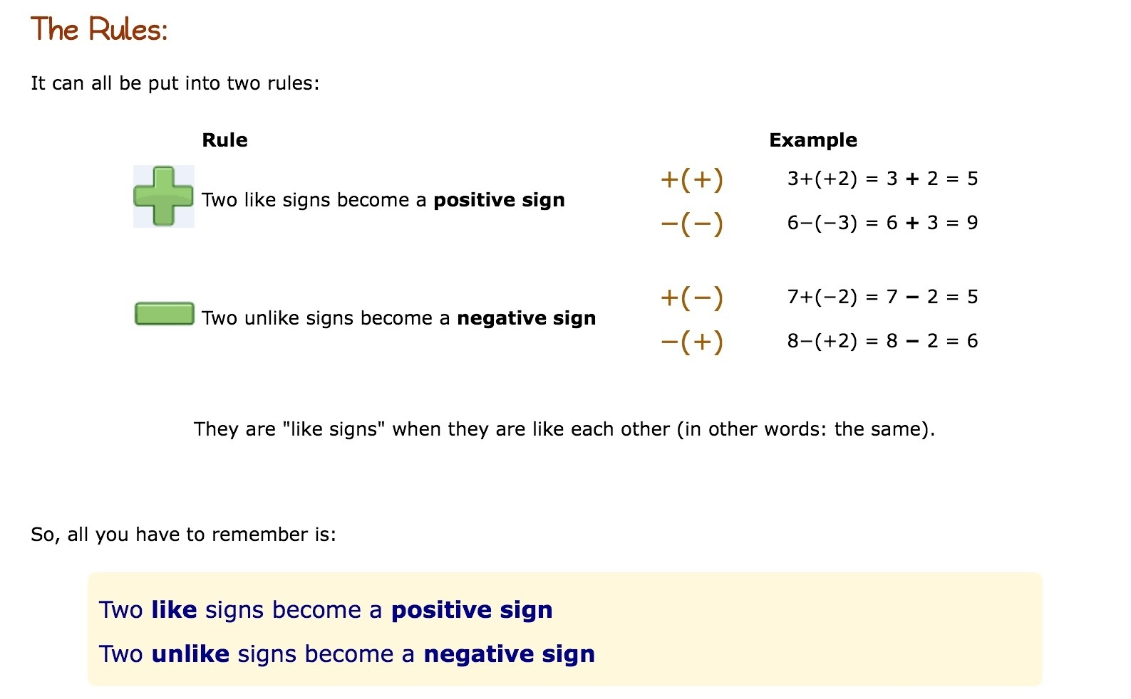 Adding And Subtracting Positive And Negative Numbers 3