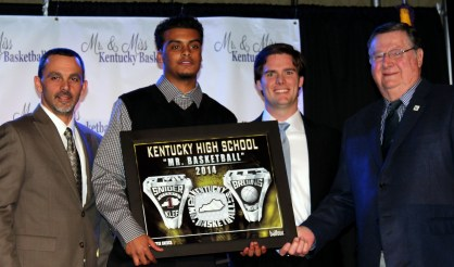 2014 Mr. KY Basketball, Quentin Snider & President of Ale-8-One, Fielding Rodgers