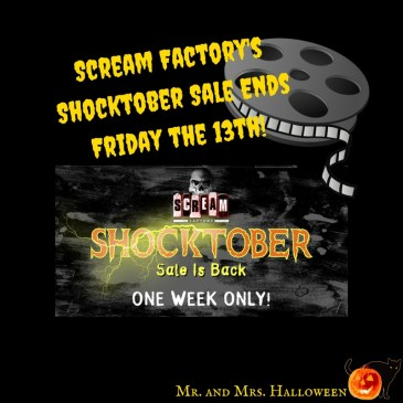 Scream Factory Sale Halloween October