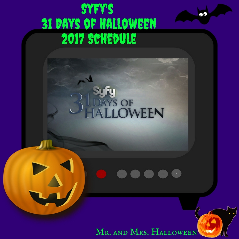 SyFy's 31 Days of Halloween 2017 Schedule