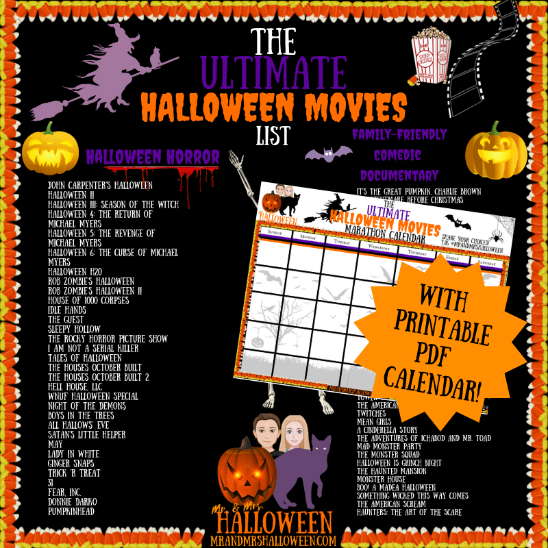 The Ultimate Halloween Movies List: 70+ Movies to Spook Yourself This Halloween