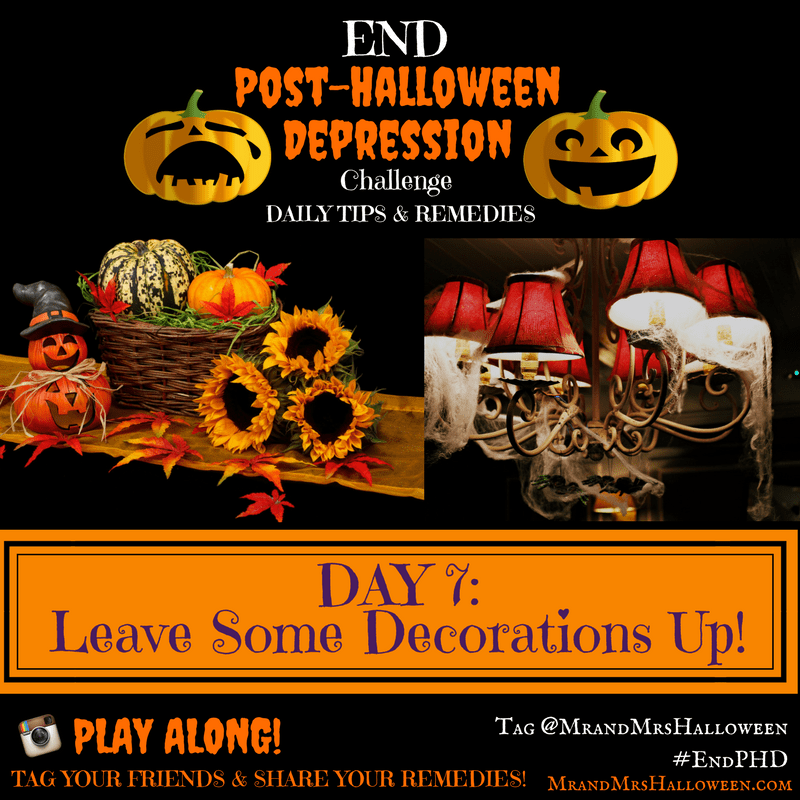 End Post-Halloween Depression: Leave Some Decorations Up!