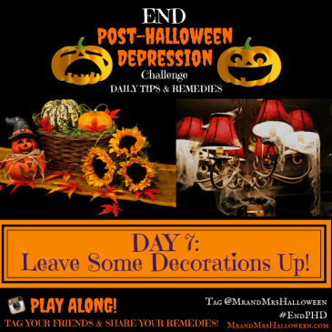 End Post-Halloween Depression Leave Some Halloween Decorations Up