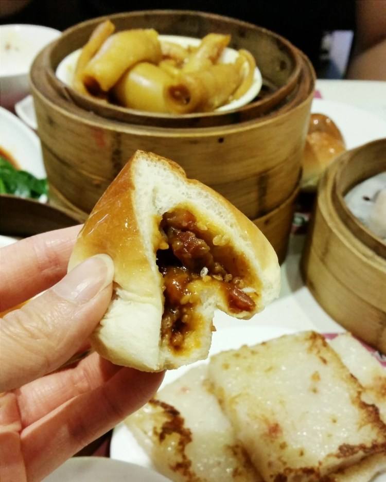 BBQ char siu buns in One Dim Sum, one of the best places to eat in Hong Kong