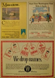 advertisements for Potomac Mills mall, etc.