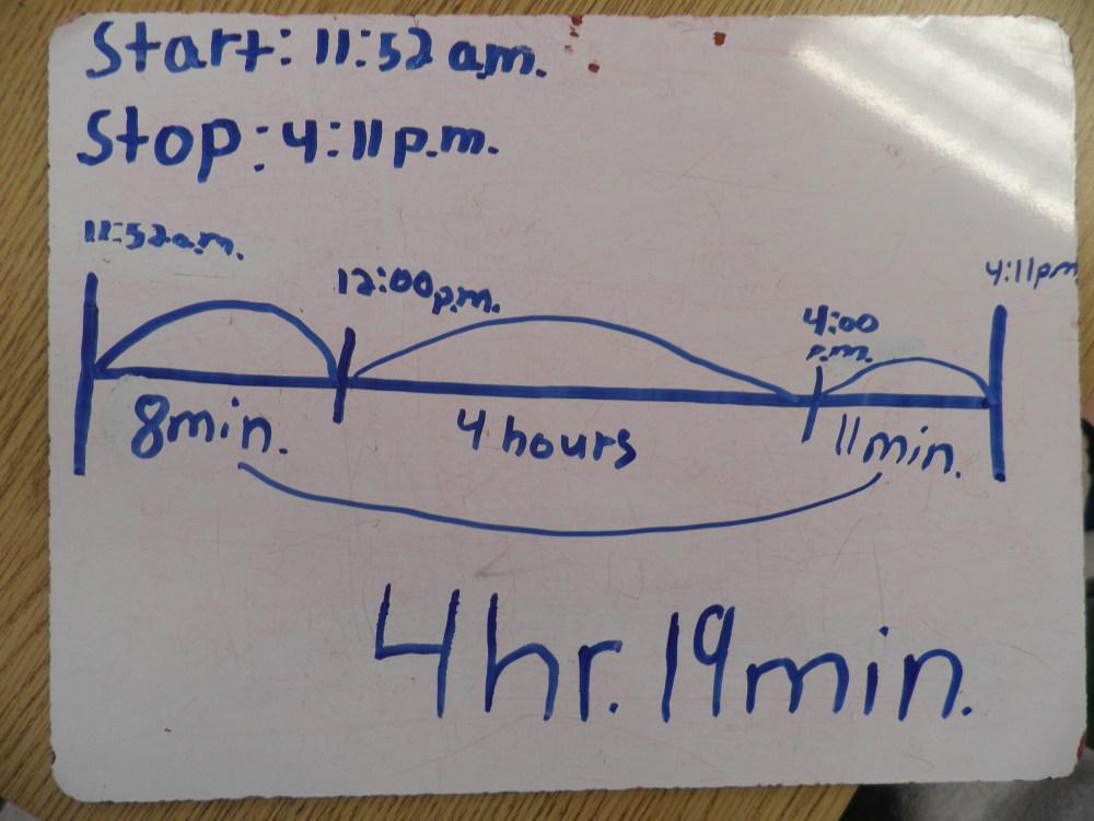 medium resolution of time worksheet: NEW 562 ELAPSED TIME NUMBER LINE WORKSHEET