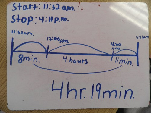 small resolution of time worksheet: NEW 562 ELAPSED TIME NUMBER LINE WORKSHEET