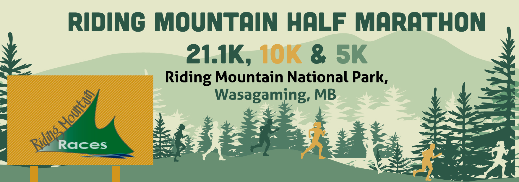 Riding Mountain Half Marathon 21.1K, 10K & 5K