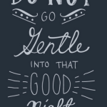 Go Gentle Into The Night