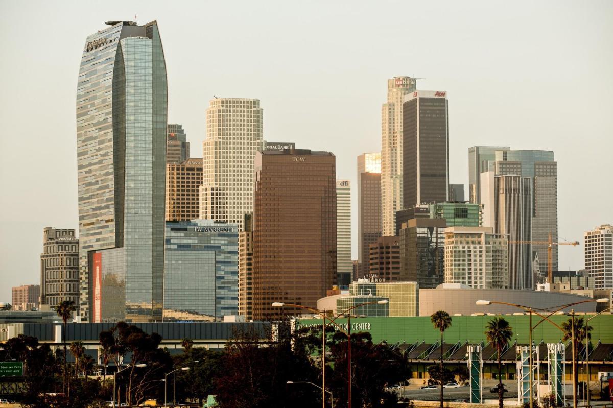 downtown la landscape mixed