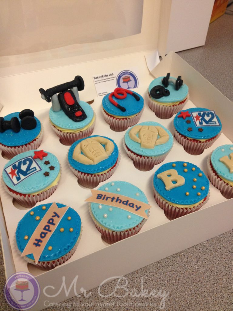Gym Themed Cupcakes