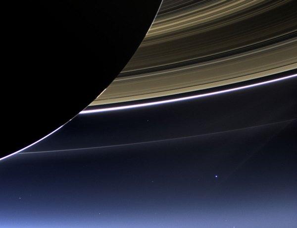 Earth From Saturn Cassini