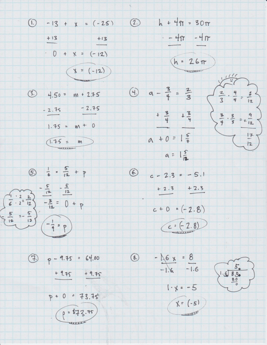 hight resolution of Yesterday's Work: Unit 2 - Balancing Linear Equations - Have a Problem? Use  Math to Solve It!